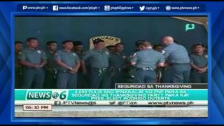 [News@6] 4, 000 pulis ikinalat para sa seguridad ng Thanksgiving ni Duterte [06|03|16]