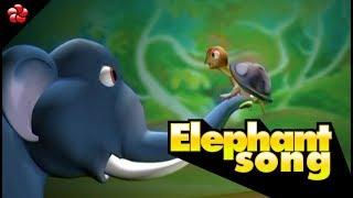 ELEPHANT RHYME  ♥Malayalam nursery rhymes from manjadi  ♥manchadi most popular animation for kids