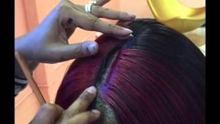 Illusion part quick weave