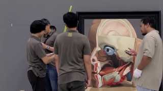 Natee Utarit Illustration of the crisis exhibition at Bangkok University Gallery