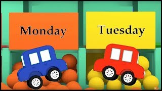 FAVORITE DAY! - Learn Days of the Week SONG - Cartoon Cars Cartoons for Kids kids videos