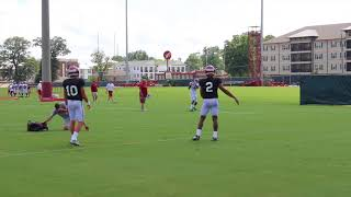 Alabama QBs throw during day 12 of fall camp