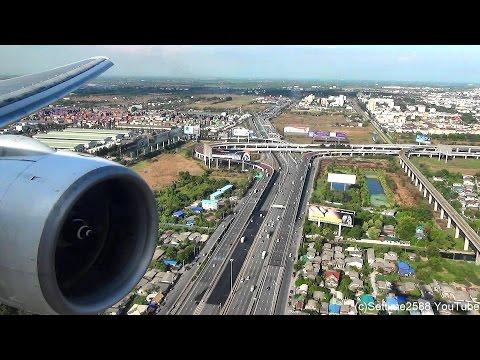 Xxx Mp4 Landing In Bangkok Airport Boeing 777 200 Thai Airways Flight TG322 Rolls Royce Trent Engine 3gp Sex