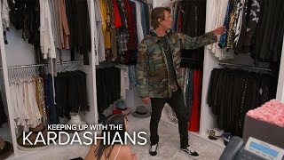 KUWTK   Kim Kardashian West & Jonathan Cheban Raid Khloe's Closet   E!