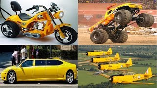 Yellow Transport and Vehicles for Kids Learn Street Vehicles Names Cars and Trucks for Children