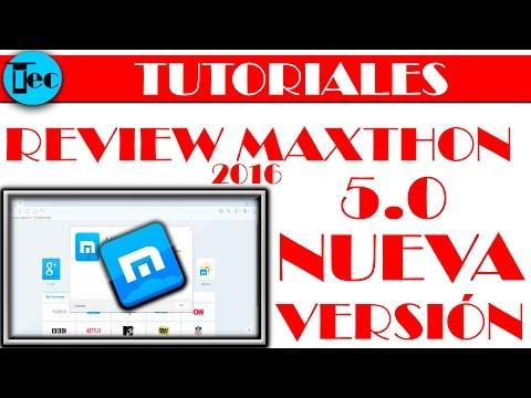 maxthon 5 beta review en espeñaol