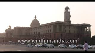 Military and government headquarters of India : South and North blocks in New Delhi
