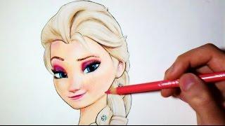 Comment dessiner Elsa : La Reine des neiges [Tutoriel]