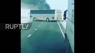 Kazakhstan: 52 die in bus fire near Kalybai
