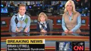 Brian Littrell & Family on Larry King Live talking about Baylee's disease