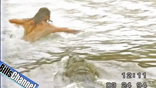 CROCODILE ATTACKS MAN IN WATER  - Real or Fake?