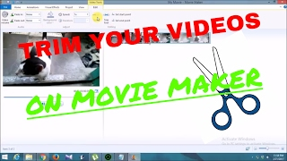 How to trim or split videos in Movie Maker! Easily edit your videos!