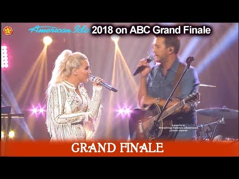"Gabby Barrett and Luke Byran duet ""Most People Are Good""   American Idol 2018  Grand Finale"