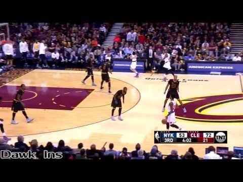 LeBron James NASTY Triple Double 2016 10 25 vs Knicks   19 Pts, 14 Ast, 11 Rebs!