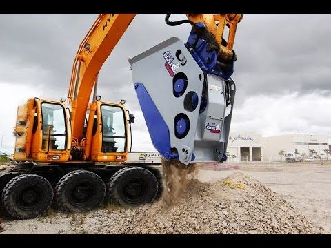 Мега техника удивительные машины.Heavy equipment crushing rocks