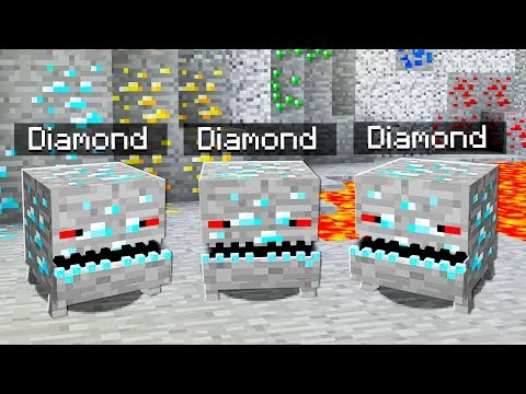 WHAT IF DIAMONDS CAME ALIVE IN MINECRAFT