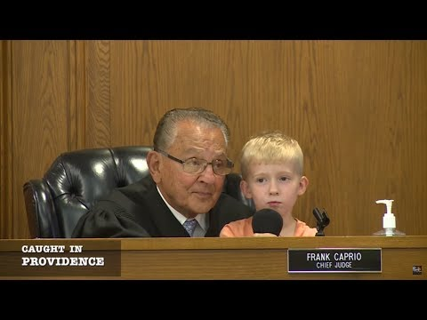 Caught in Providence Cute Kid Wins Over the Courtroom