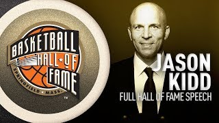 Jason Kidd | Hall of Fame Enshrinement Speech