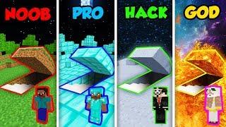Minecraft NOOB vs. PRO vs. HACKER vs. GOD: SECRET PLANET BASE in Minecraft! (Animation)