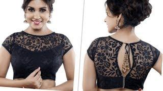 NEW BOAT NECK NET MODEL BLOUSE in hindi/wedding blouse
