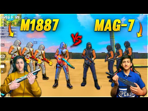 M1887 Vs Mag 7 Factory Challenge With My Brother 20 000 Diamond Challenge Garena Free Fire