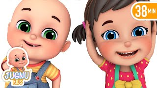 Head, Shoulder, knees and toes - education video by Jugnu Kids