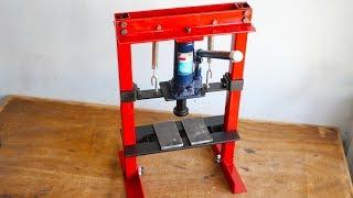 How To Make Hydraulic Press Machine    DIY Mini Hydraulic Press    Without Welding