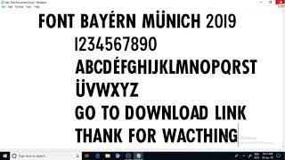 bayern munich font 2018 - 2019 free download
