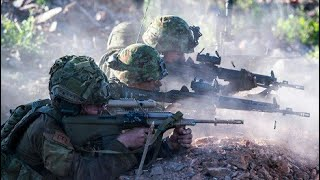 Bangladesh Army Training.  Live Fire in village 2017