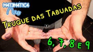 Truque das Tabuadas do 6, 7, 8, 9 e 10 com as Mãos | Matemática Rio