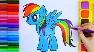 Learn Your Colors with Rainbow Dash Pony, Coloring Pages For Kids