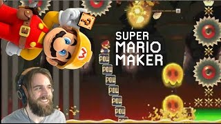 POWabunga! | POW Surf Kaizo (Glitch or Physics?) - Super Mario Maker