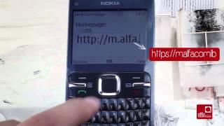 كيف تدخل إعدادات الإنترنت التابعة لألفا على هاتف Nokia C3