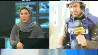 Israel soldiers shot tears gases in vest bank against protesters and presstv's correspondent became unconscious