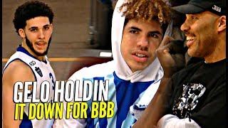 LiAngelo Ball HOLDS IT DOWN w/ LaVar & Melo Watching! LKL League Game