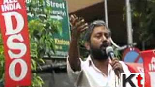 AIDSO protesting over IIT Madras row before Calcutta University