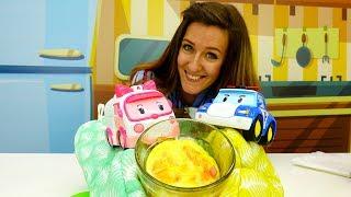 ¡Desayunos divertidos y fáciles para niños! ¡Robocar Poli Juguetes! Actividades de cocina para niños