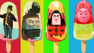 Baby Learn Colors Thomas and Friends Ice Cream Finger Family Nursery Rhymes Kids Toy Train Funny Car