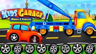 Cars Factory & Car Driving & Car Build for Children - Animation Cartoons : Kids Garage Wheels