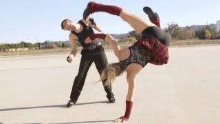 Karate/Gym Girl vs Kickboxer Guy | Martial Arts Action Scene