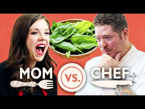 Mom Vs. Chef Battle Spinach