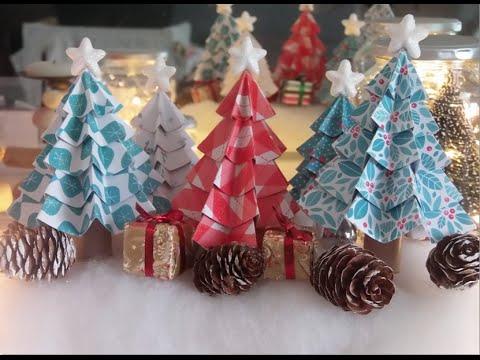 Décoration de Noël DIY : Sapins en papier