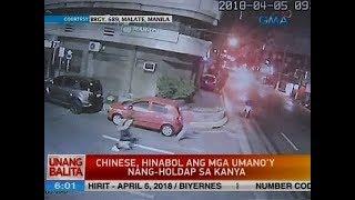 Chinese, hinabol ang mga umano'y nang-holdap sa kanya