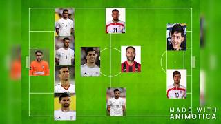 IRAN Potential Lineup for WORLD CUP 2018!