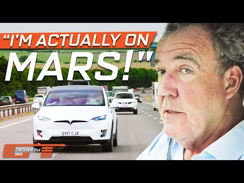 Clarkson Is Astonished By The Self Driving Tesla Model X The Grand Tour