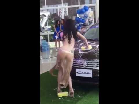 Ladies Bike Wash Indonesia Auto Show