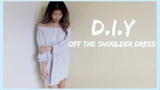 DIY Off The Shoulder Dress   petitejuls