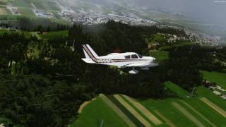 Prepar3D v4 A2A Cherokee 180 LOWI thunderstorm performance and realism test