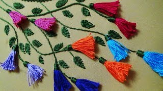 Hand Embroidery: Neckline Embroidery for Kurtis/Kameez