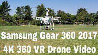 Samsung Gear 360 2017 with Phantom 3 4k 360 VR Drone Video   Verizon